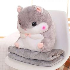 Cute Hamster Pillow And Blanket Cute Hamster Pillow And B. Cute Hamster Pillow And Blanket Cute Hamster Pillow And Blanket Cute Bedding, Cute Pillows, Animal Sewing Patterns, Stuffed Animal Patterns, Crochet Patterns, Cute Stuffed Animals, Cute Animals, Cute Hamsters, Cute Plush