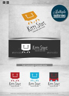 Kitty Store - Logo Template by katzeline [ Kitty Store Logo Template ] 300dpi, CMYK Print Ready Easy to customize and change colorAll vectors AI & EPS files Included.Ado
