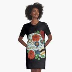 Promote | Redbubble Sugar Skull Design, Shirt Dress, T Shirt, Studio, Dresses, Fashion, Supreme T Shirt, Vestidos, Moda