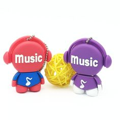 Cartoon Music Man Pendrive USB Flash Drive for Gift Love Man USB Pens Stick Flash Disk Memory USB 128GB 64GB 32GB 16GB 8GB 4GB