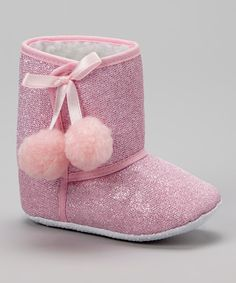 Take a look at this Miss Fancy Pants Pink Sparkly Boot on zulily today!