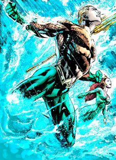 Power Couple in Aquaman #7 - Ivan Reis