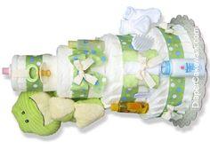 Diaper cake walk game for baby shower