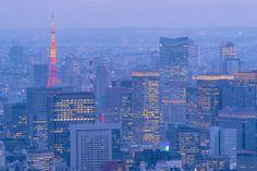 Tokyo city at twilight by Pushish Images on @creativemarket