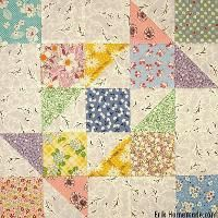 Quilting: Grandmother's Puzzle Block Pattern