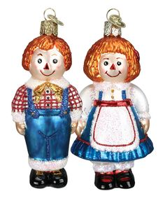 Look at this #zulilyfind! Rag Doll Ornament - Set of Two by Old World Christmas #zulilyfinds