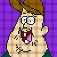 Soos Ramirez From Gravity Falls Perler Bead Pattern / Bead Sprite