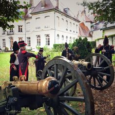 Reenactors for French army