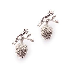 Intricately carved by hand, our Pinecones earrrings offer a subtle and timeless note of glamour. Embelished with Swarovski crystals, they emphasize the beuaty found in our Winter Forest. Ottoman Hands, Tatty Devine, Latest Jewellery, Pine Cones, Designer Collection, Jewelry Collection, Swarovski Crystals, Opal, Jewelry Design