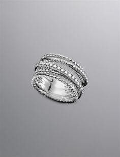 Crossover Ring, Pave Diamonds | Women Rings | David Yurman Official Store... LOVE!