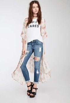 Forever 21 | Distressed Skinny Jeans #forever21 #denim #jeans