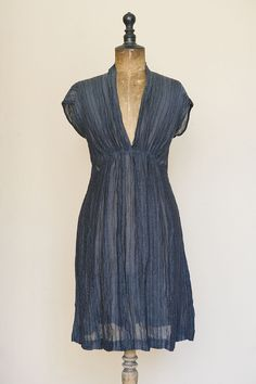 Another beautifully simple dress I want to learn to make. Linen/cotton crinkle fabric Nygaards Anna Dress (a swedish clothing label)   See more about dresses.