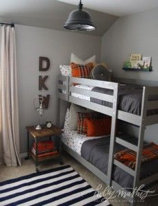 paint colour palette ideas for a boys bedroom using gray