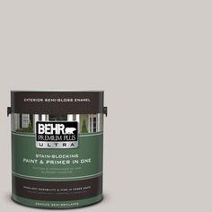 BEHR Premium Plus Ultra Home Decorators Collection 1-gal. #hdc-NT-20 Cotton Grey Semi-Gloss Enamel Exterior Paint