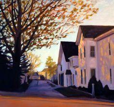 """Spring, Huntington Street"" by Melissa Anne Miller (oil on canvas, 36 x 38, $5300)"