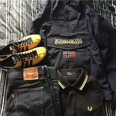 Football Casual Clothing, Football Casuals, Mode Masculine, Urban Chic, Casual Wear, Casual Outfits, Fred Perry Polo Shirts, Hype Clothing, Outfit Grid