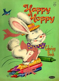 "by ""Gavy"" Vintage Coloring Books, Vintage Children's Books, Vintage Cards, Vintage Postcards, Vintage Toys, Old Children's Books, Easter Toys, Painted Books, Retro Toys"