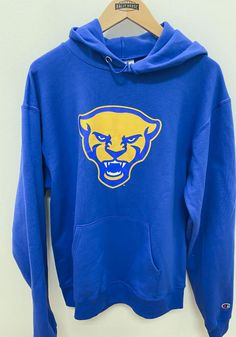 Champion Pitt Panthers Mens Blue Panther Head Long Sleeve Hoodie - 14755139 Pitt Panthers, Hooded Sweatshirts, Hoodies, Pittsburgh Penguins, Champion, Long Sleeve, Sleeves, How To Wear, T Shirt