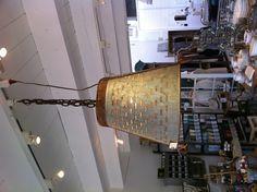 Vintage olive bucket pendant lamp