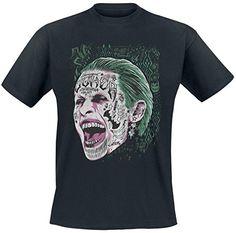 Suicide Squad Joker Screaming T-Shirt schwarz S