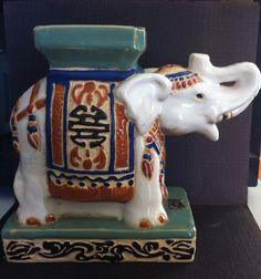 Beautiful ArtAsia Hand Made Elephant Figurine Statue Planter Vase Collectible