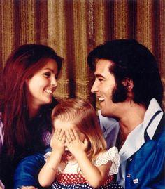 Love this pic! Elvis, Priscilla & Lisa Marie