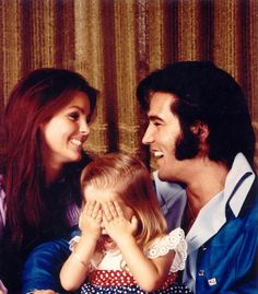 Love this pic! Elvis, Priscilla & Lisa Marie