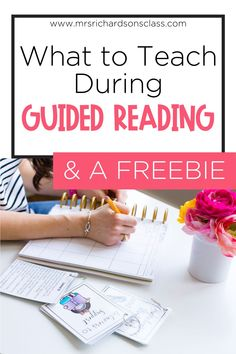 If you are unsure of what to teach during your guided reading lessons for kindergarten, first grade, or even second grade, this guided reading blog post is filled with all you need to know! Easily plan your guided reading groups with this FREE guided reading tool, too!