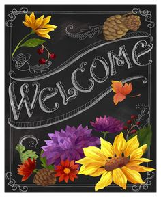 Trademark Global Fiona Stokes-Gilbert 'Chalkboard Welcome' Canvas Art - . - Chalk Art İdeas in 2019 Summer Chalkboard Art, Welcome Chalkboard, Chalkboard Wall Art, Chalk Wall, Chalkboard Drawings, Chalkboard Quotes, Last Minute Halloween Kostüm, Spice Girls, Chalk It Up