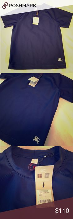 Burberry kids Navy Short-Sleeve. Nylon/spandex. New with tags. Burberry Shirts & Tops Tees - Short Sleeve