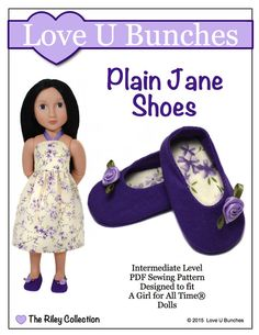 PLAIN JANE SHOES FOR AGAT DOLLS