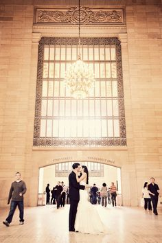 grand central station wedding photo by STUDIO 1208