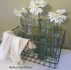 Old Wire Baskets Make Great Industrial Chic Home Decor | Rustic Crafts & Chic Decor
