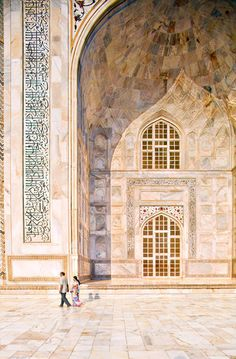 The Grand Tour of Asia: India   The marble surrounding the Taj Mahal, from local quarries, doesn't stain—nearly 400 years after the structure was built, it is still spectacularly vivid.