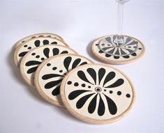 Un preferito personale dal mio negozio Etsy https://www.etsy.com/it/listing/222907000/ethnic-flower-coasters-set-of-6-perfect