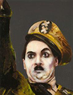 ~ Lita Cabellut: Charlie Chaplin