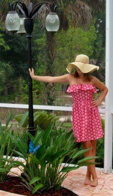 Homemade Strapless Ruffle Dress