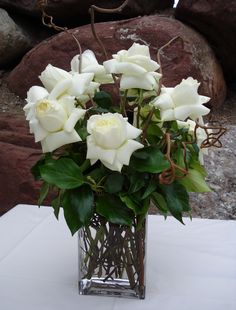 White Rose Gift Arrangement - Aspen Branch Original - www.aspenbranch.com