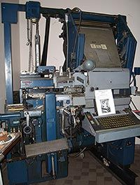 Linotype Elektron Linecaster (1960s).