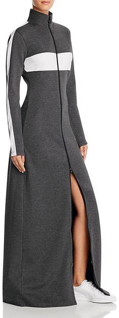 8bf9d46d3219 FENTY Puma x Rihanna Mock Neck Zip Maxi Dress