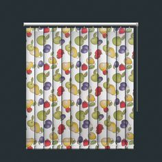 Colourful Retro Fruit Design Vertical Blind