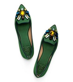 Tory Burch Mayada Satin Smoking Slipper