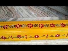 Rangoli Side Designs, Simple Rangoli Border Designs, Rangoli Borders, Rangoli Designs With Dots, Rangoli Designs Images, Simple Designs, Painting Rangoli Design, Worli Painting, Pooja Room Design