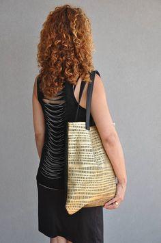 Black shoulder bag, Gold handbag, Gold tote bag, Day bag, Oversized city bag, Everyday handbag, Vegan bag, Black handbag, Golden tote bag #vegan   #fashion #fashionblogger #bags #boho #bohostyle #tote #totebag #style #styleblogger #fashionista