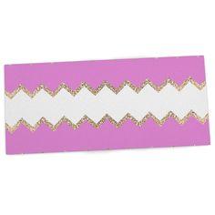 "Monika Strigel ""Avalon Pink Chevron"" Rose White Desk Mat"