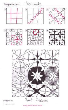 Zentangle pattern: Ha-nuka