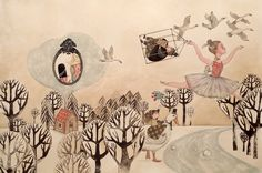 Illustration by Marjorie Pourchet – from 'Mucho Cuento / Many Tales' (written by Enrique Páez)
