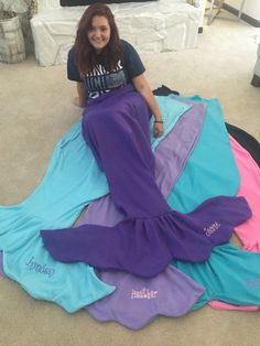 Adult Fleece Mermaid Blanket by MadebyJuliaC on Etsy
