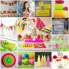 We ♥ NEON! Vivid Hues for Neon Wedding Inspiration {totally trending!!} Thanks @b. Lovely Events for the #Inspiration