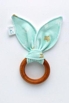 organic wood teething ring by LolaandStella. How cute is this!